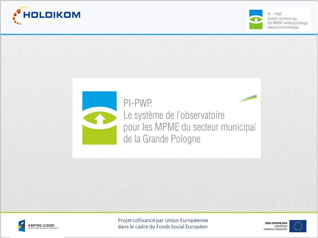Projet cofinancé par Union Européenne dans le cadre du Fonds Social Européen