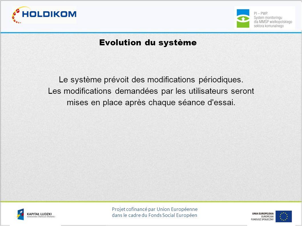 Le système prévoit des modifications périodiques.