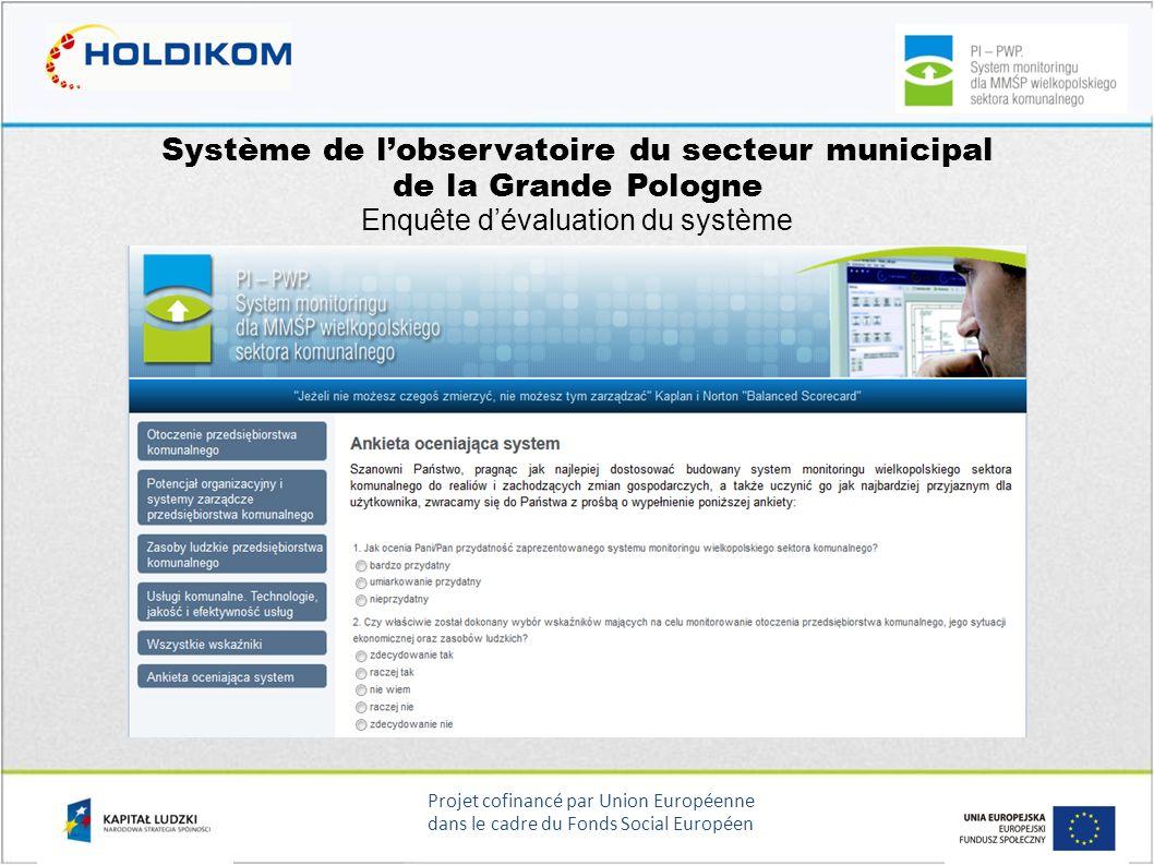 Système de l'observatoire du secteur municipal de la Grande Pologne