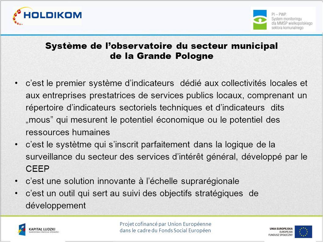 Système de l'observatoire du secteur municipal