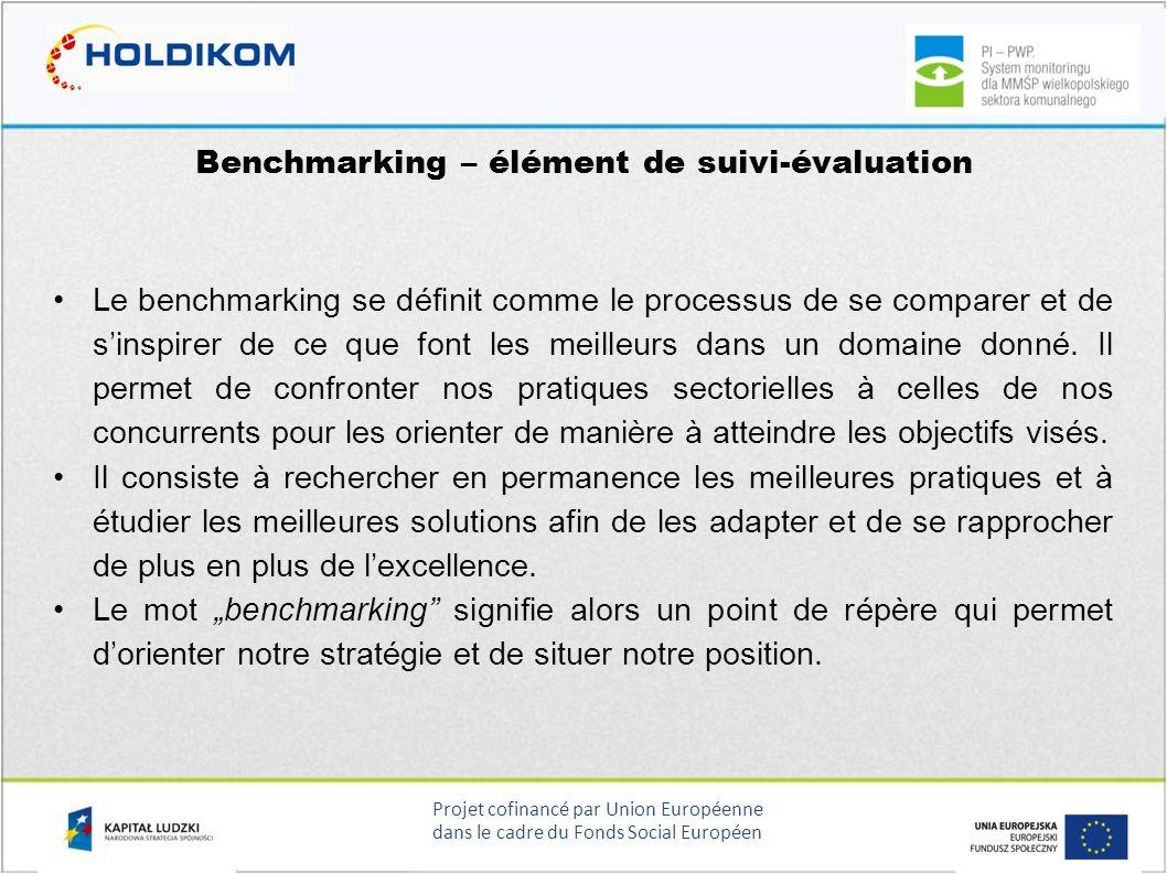 Benchmarking – élément de suivi-évaluation