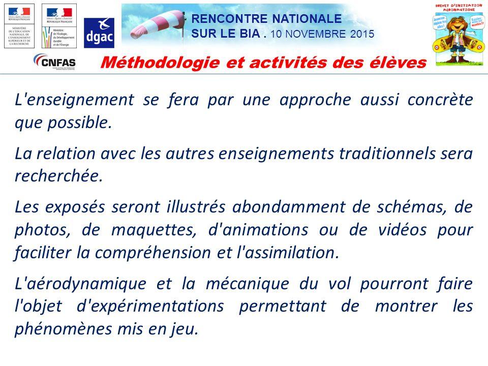 Méthodologie et activités des élèves