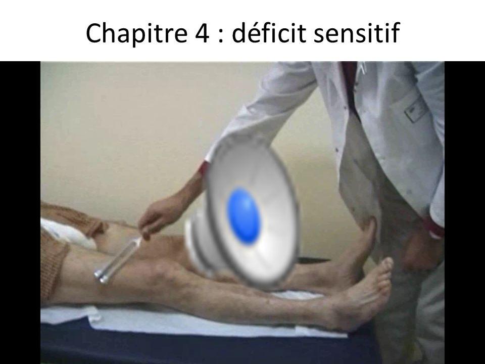 Chapitre 4 : déficit sensitif