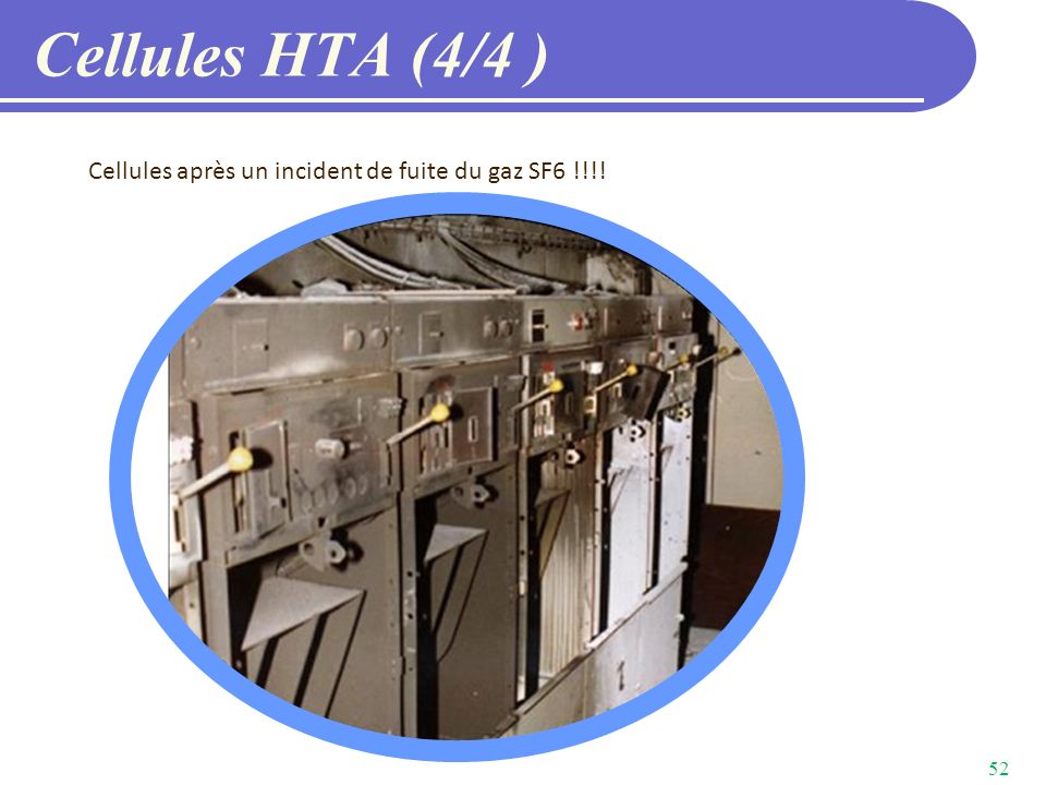 Cellules HTA (4/4 ) Cellules après un incident de fuite du gaz SF6 !!!!