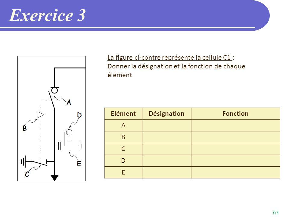 Exercice 3 La figure ci-contre représente la cellule C1 :