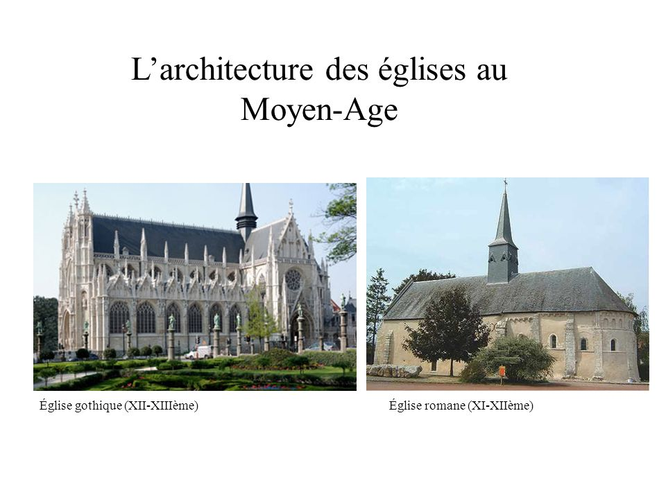 L architecture des glises au moyen age ppt video online for Architecture eglise