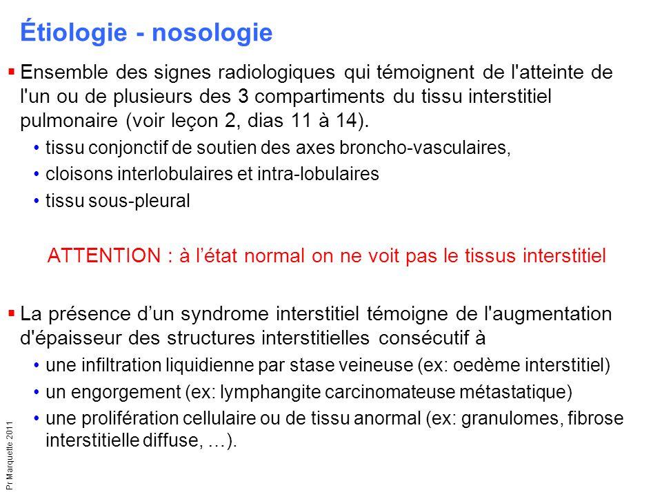 ATTENTION : à l'état normal on ne voit pas le tissus interstitiel