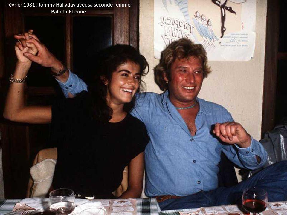 Février 1981 : Johnny Hallyday avec sa seconde femme Babeth Etienne