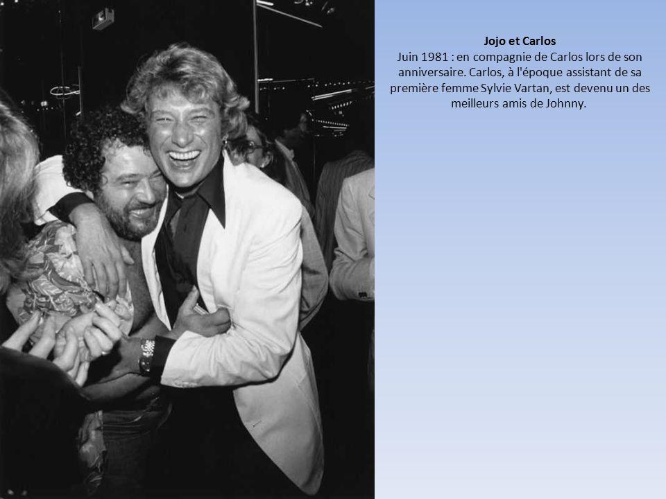 Jojo et Carlos Juin 1981 : en compagnie de Carlos lors de son anniversaire.