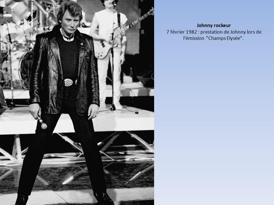 Johnny rockeur 7 février 1982 : prestation de Johnny lors de l émission Champs Elysée .
