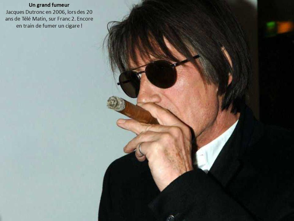 Un grand fumeur Jacques Dutronc en 2006, lors des 20 ans de Télé Matin, sur Franc 2.