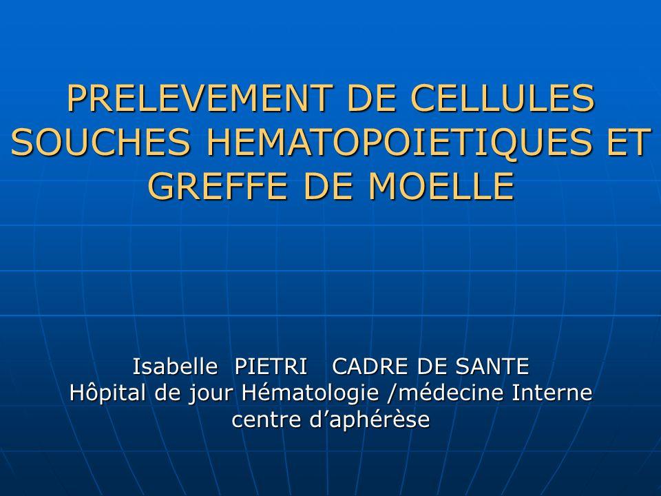 prelevement de cellules souches hematopoietiques et greffe de moelle ppt t 233 l 233 charger
