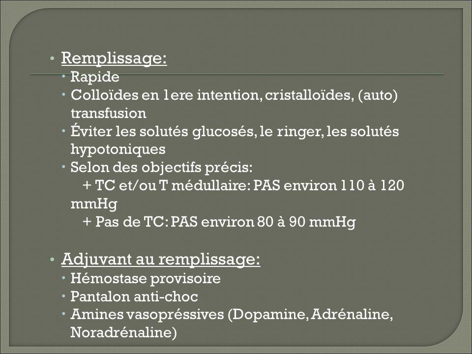Adjuvant au remplissage:
