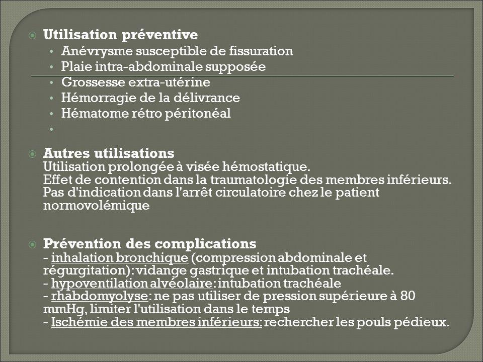 Utilisation préventive