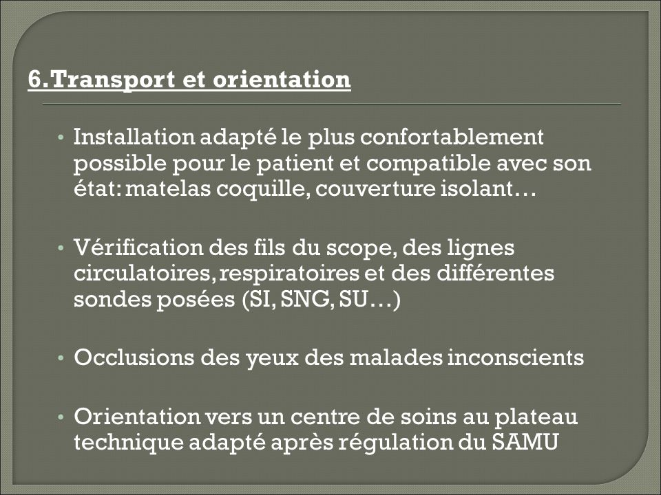 6.Transport et orientation