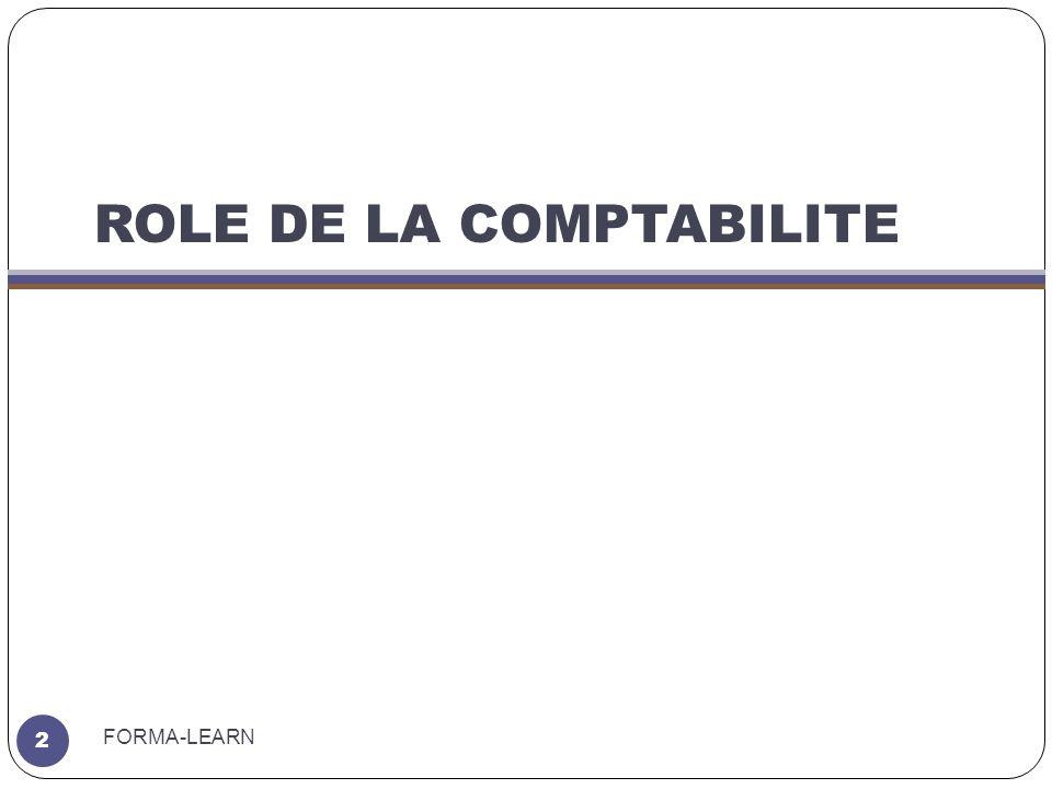 ROLE DE LA COMPTABILITE