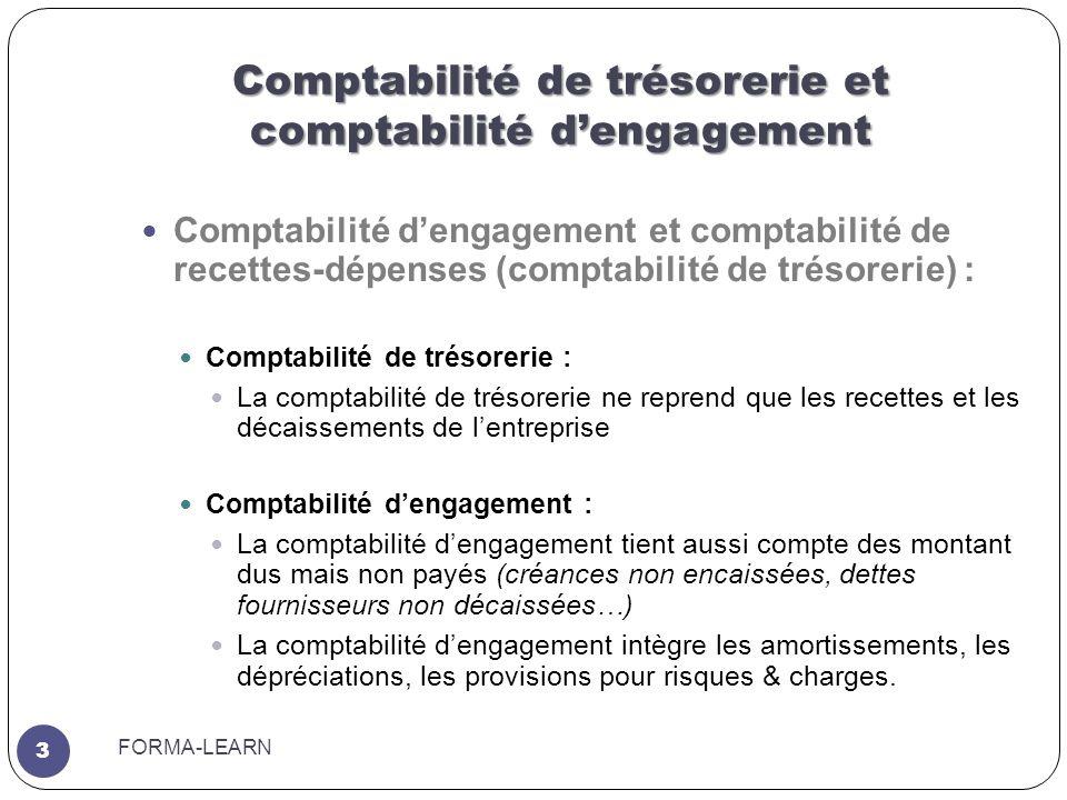 Comptabilité de trésorerie et comptabilité d'engagement