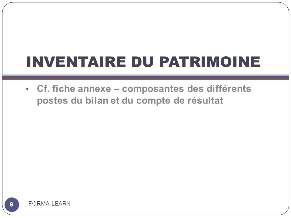 INVENTAIRE DU PATRIMOINE