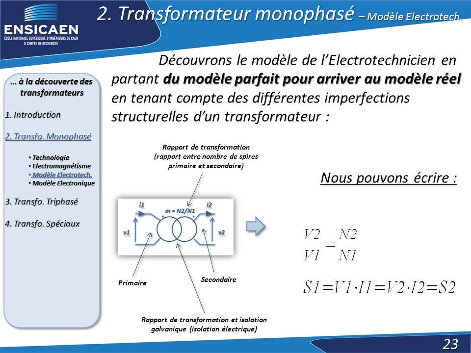 … à la découverte des transformateurs