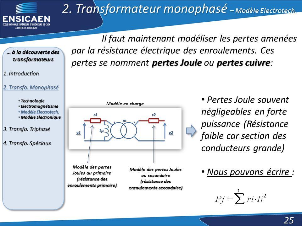 2. Transformateur monophasé – Modèle Electrotech.
