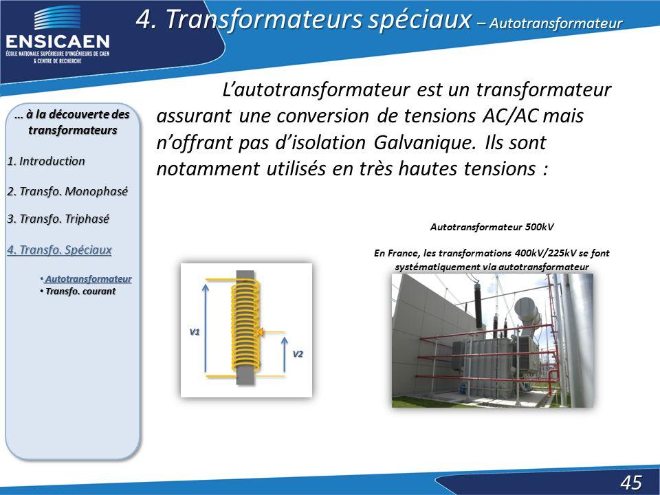 … à la découverte des transformateurs Autotransformateur 500kV