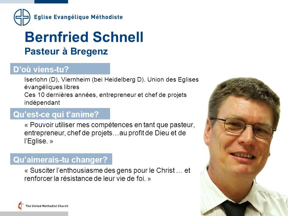 Bernfried Schnell Pasteur à Bregenz