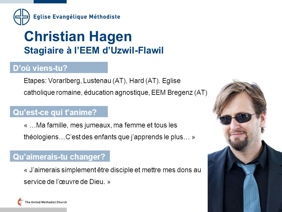 Christian Hagen Stagiaire à l'EEM d'Uzwil-Flawil