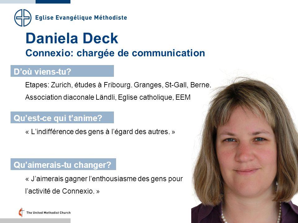 Daniela Deck Connexio: chargée de communication