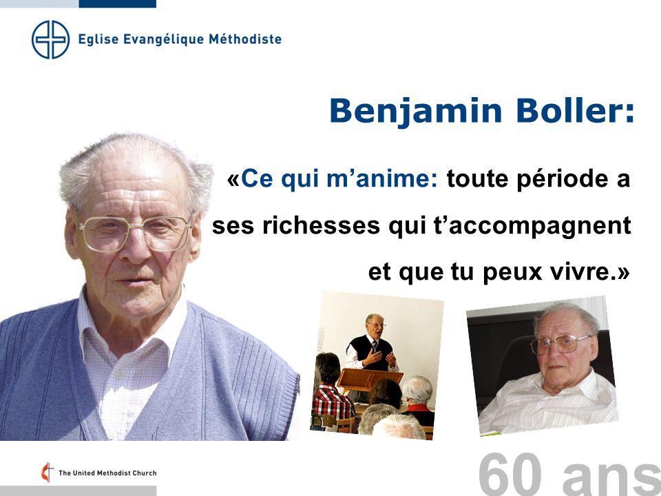 Benjamin Boller: «Ce qui m'anime: toute période a ses richesses qui t'accompagnent et que tu peux vivre.»