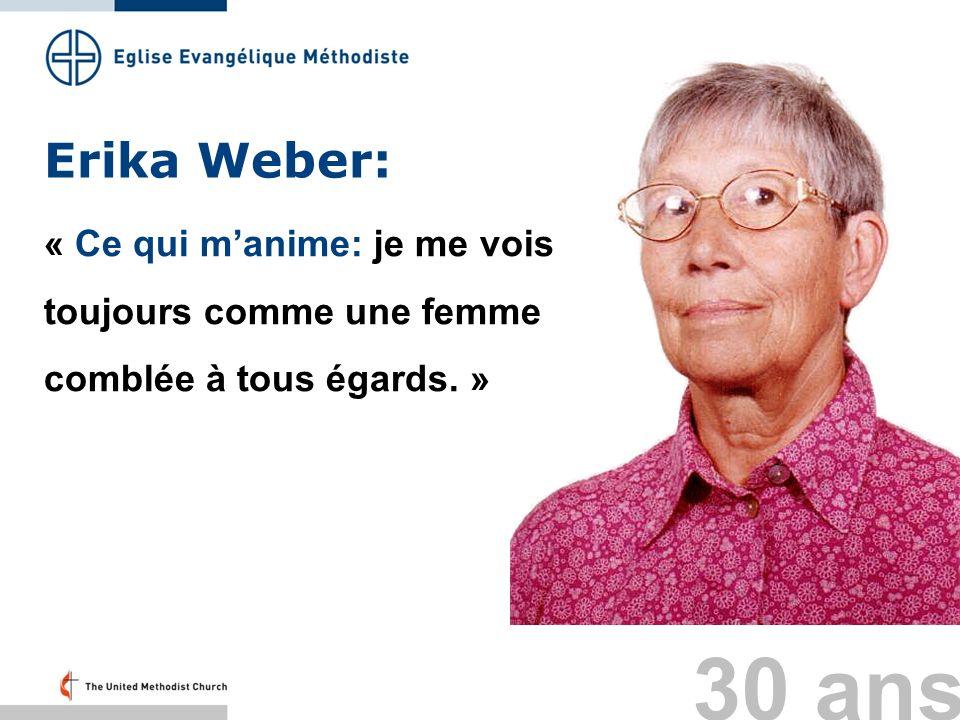 Erika Weber: « Ce qui m'anime: je me vois toujours comme une femme comblée à tous égards. » Folie 37: