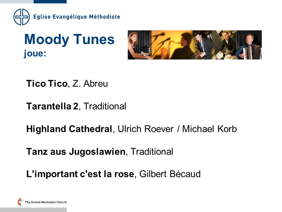 Moody Tunes joue: Tico Tico, Z. Abreu Tarantella 2, Traditional