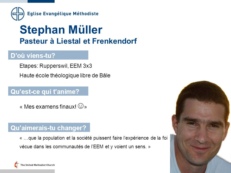 Stephan Müller Pasteur à Liestal et Frenkendorf