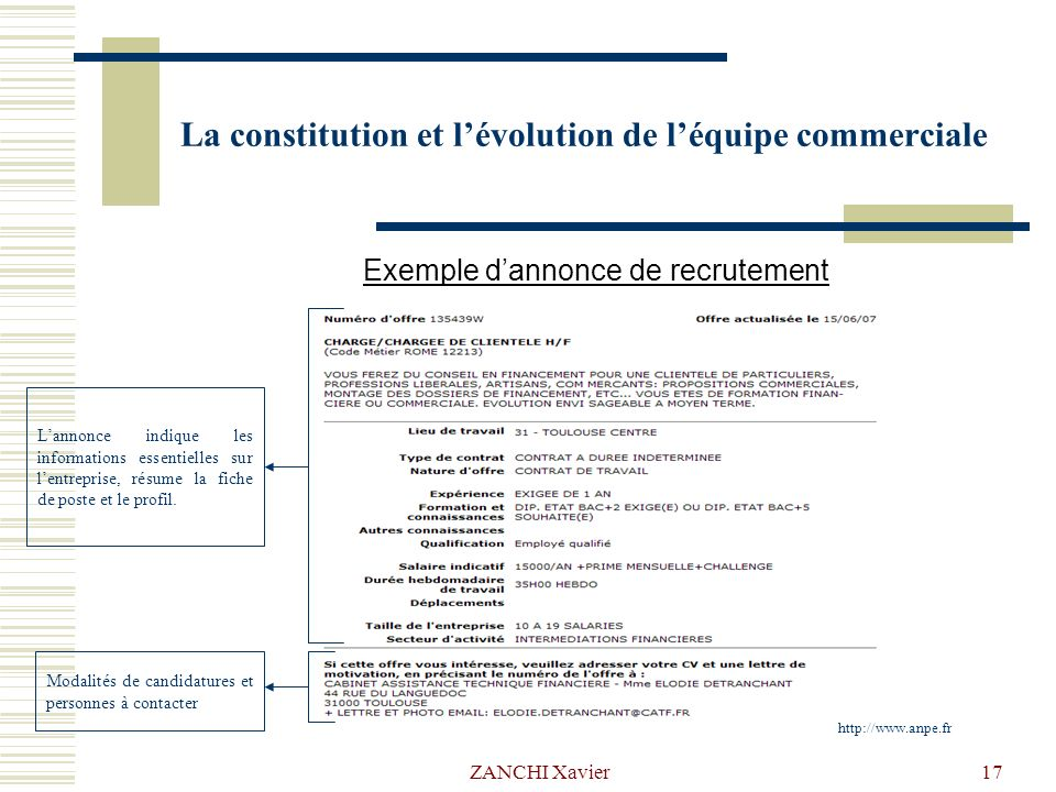 la constitution et l u2019 u00e9volution de l u2019 u00e9quipe commerciale