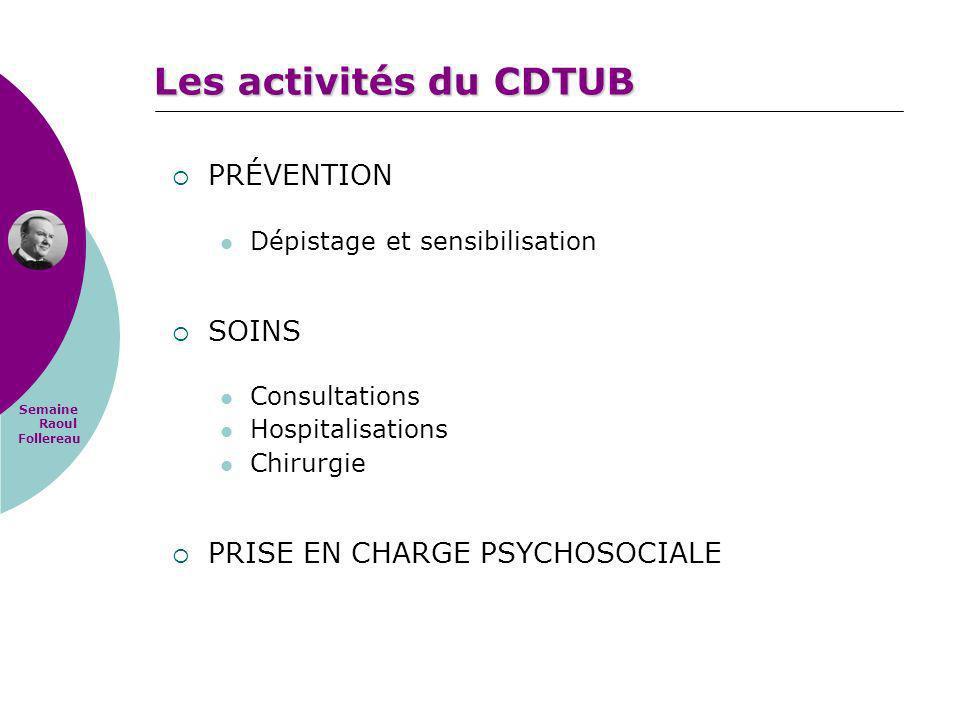Les activités du CDTUB PRÉVENTION SOINS PRISE EN CHARGE PSYCHOSOCIALE