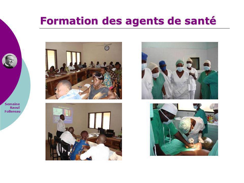 Formation des agents de santé