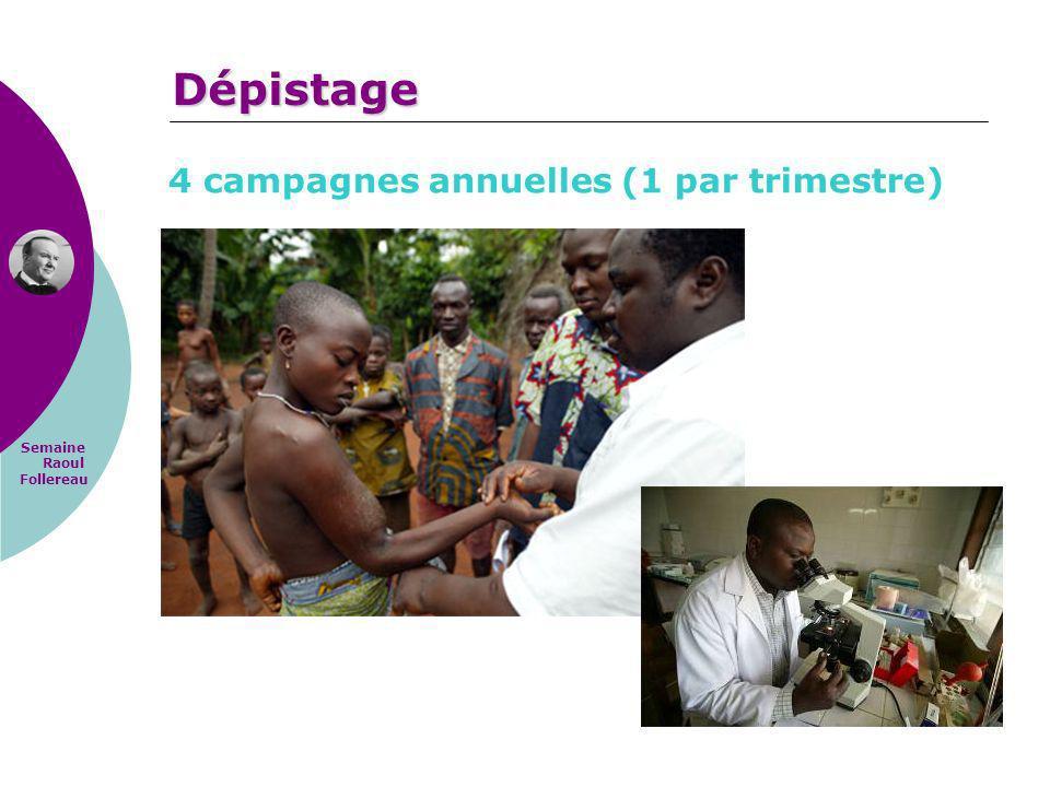 Dépistage 4 campagnes annuelles (1 par trimestre)