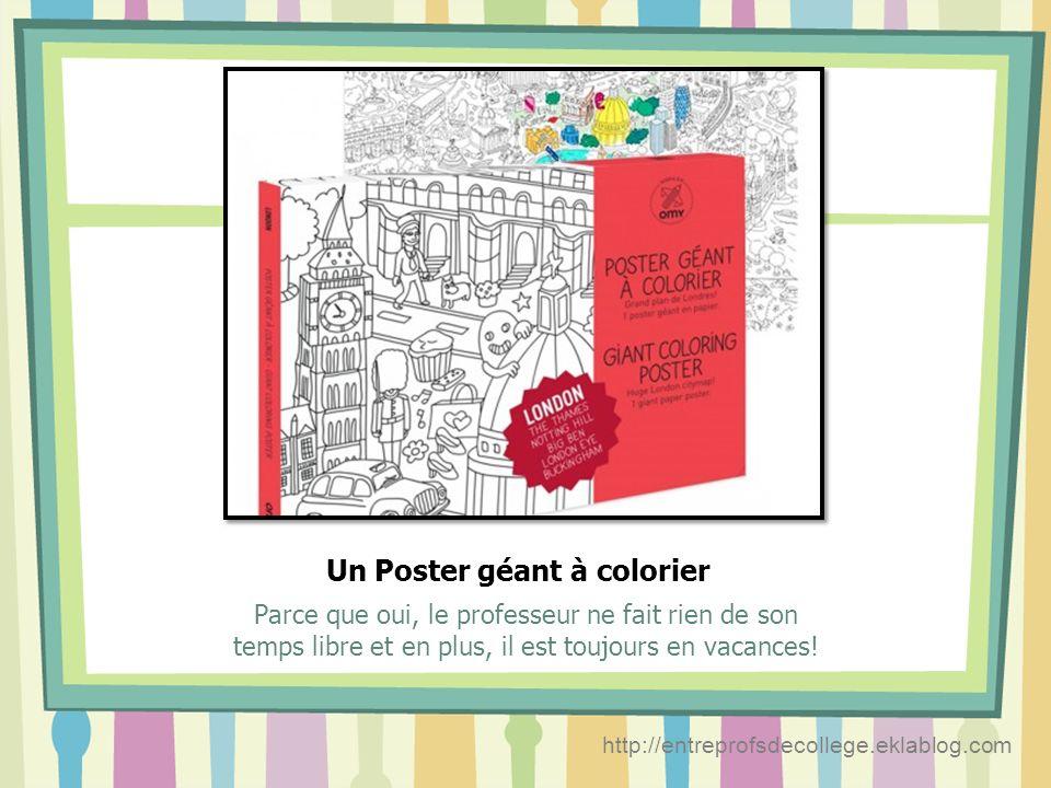 Un Poster géant à colorier