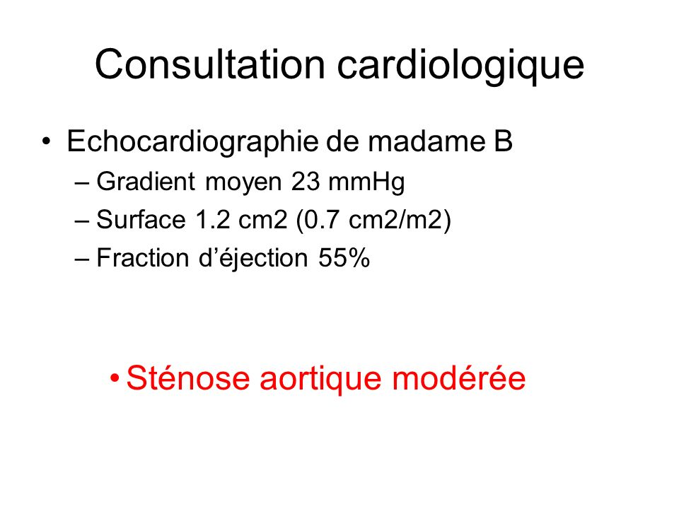 Consultation cardiologique