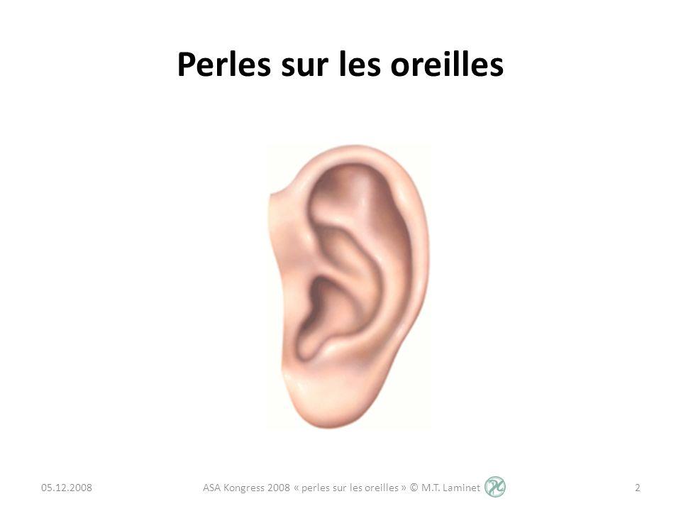 Perles sur les oreilles