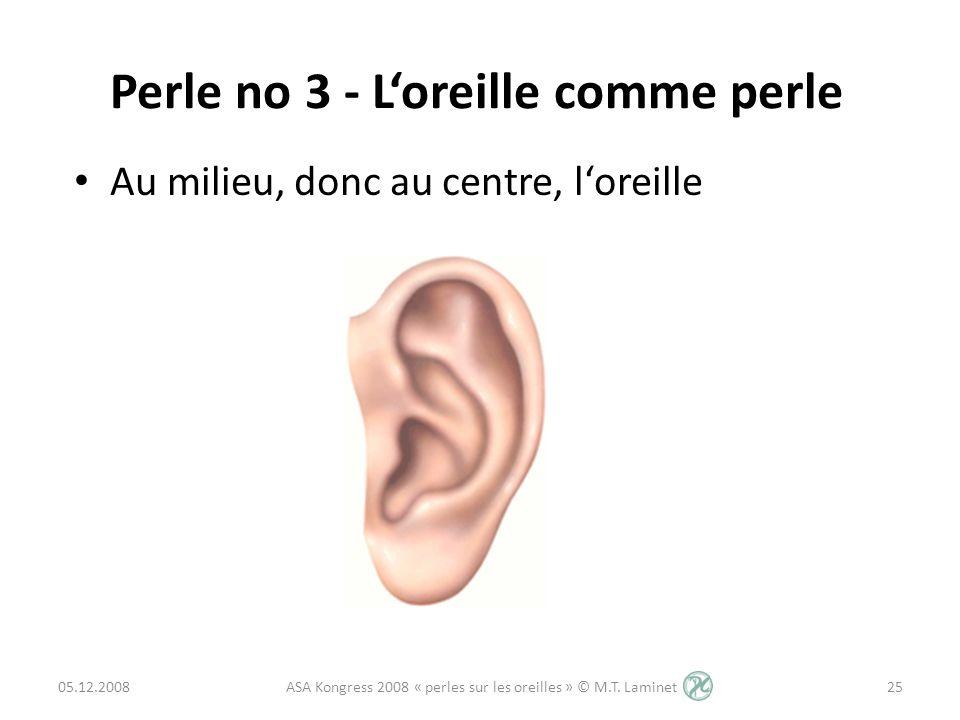 Perle no 3 - L'oreille comme perle