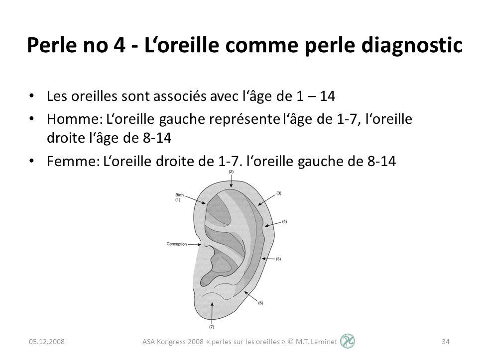Perle no 4 - L'oreille comme perle diagnostic