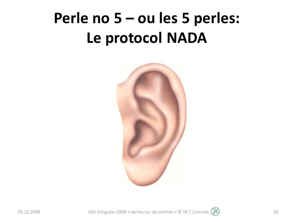 Perle no 5 – ou les 5 perles: Le protocol NADA