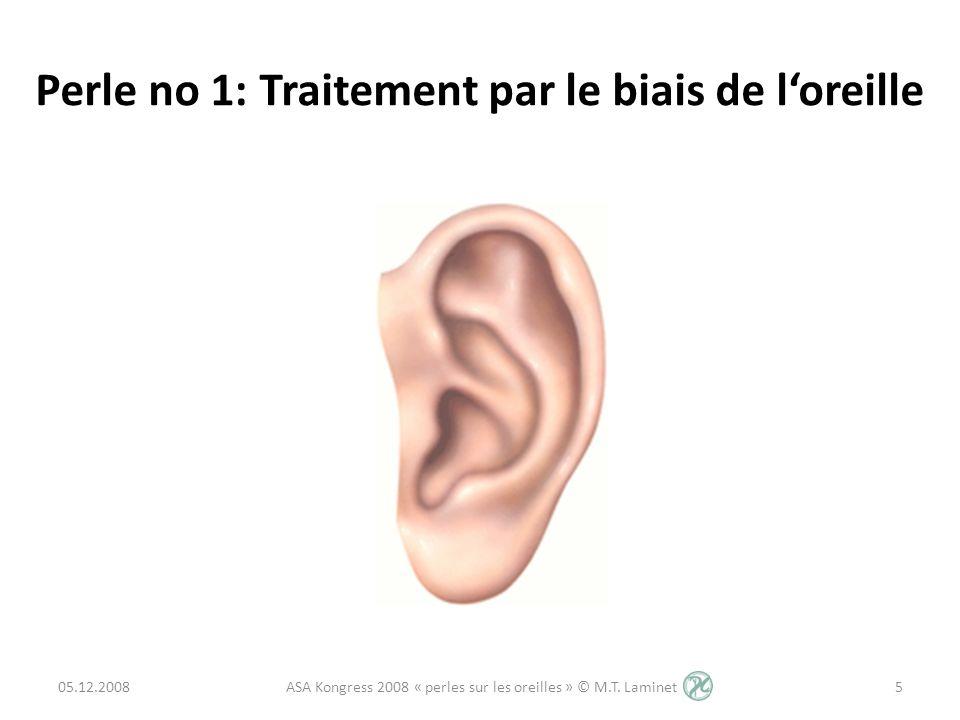 Perle no 1: Traitement par le biais de l'oreille