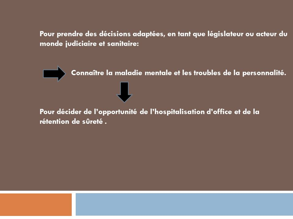 Expertise en psychiatrie ppt video online t l charger - Hospitalisation d office en psychiatrie ...