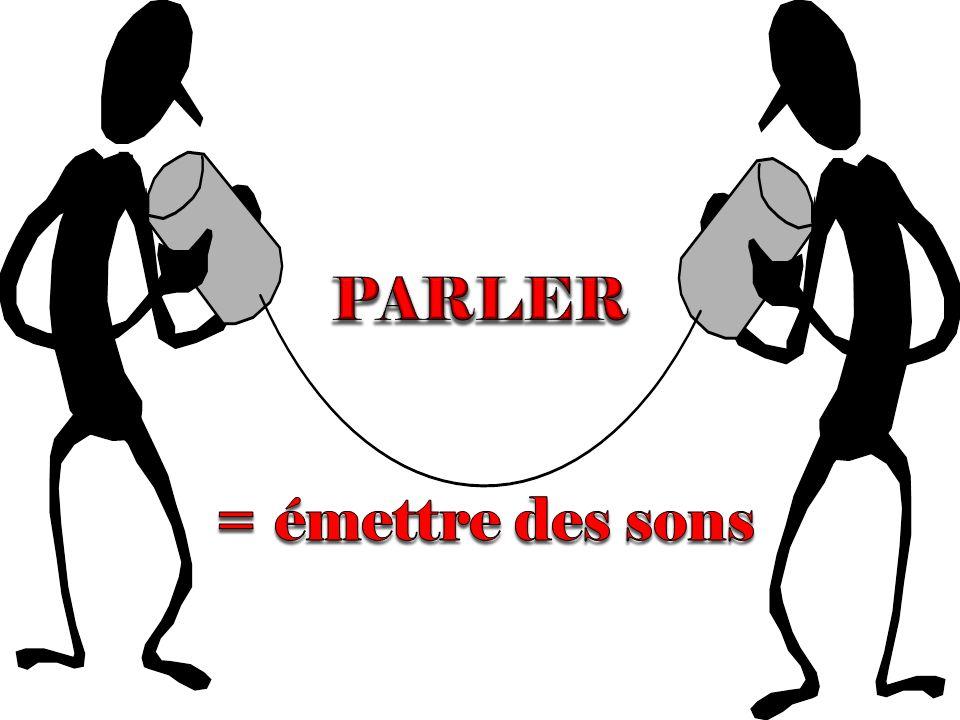 PARLER = émettre des sons