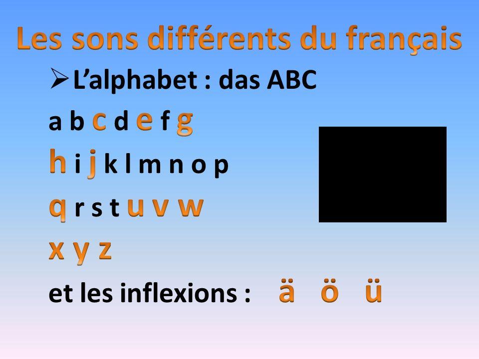 Les sons différents du français