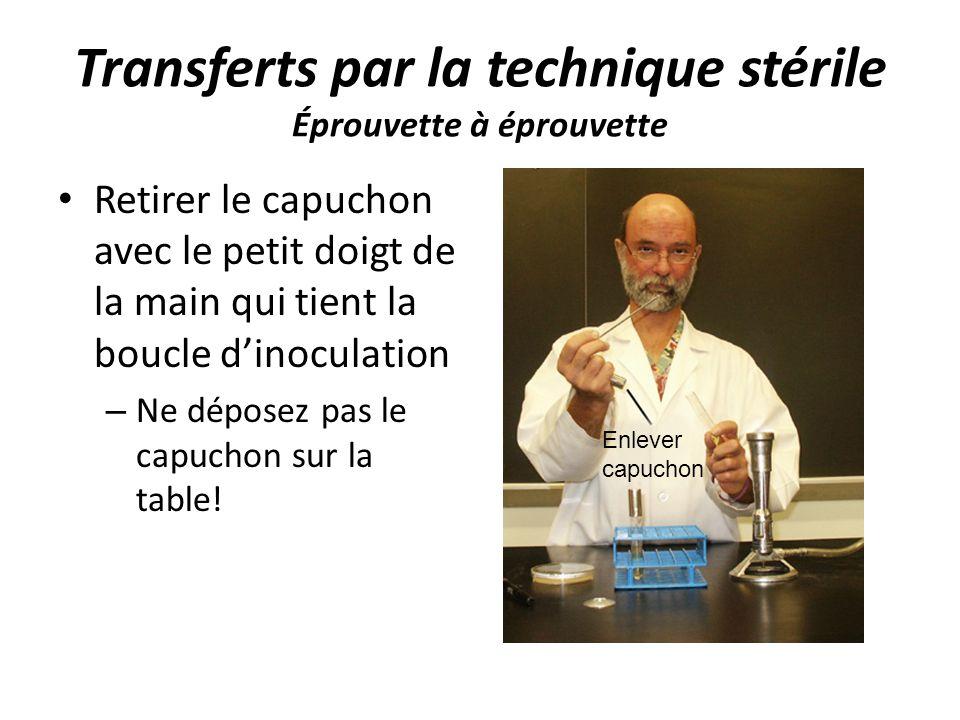 Transferts par la technique stérile Éprouvette à éprouvette