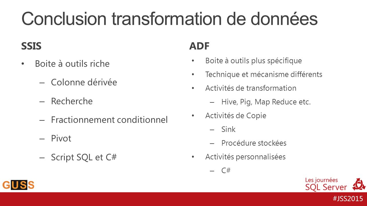 Conclusion transformation de données