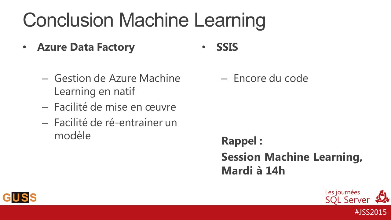Conclusion Machine Learning
