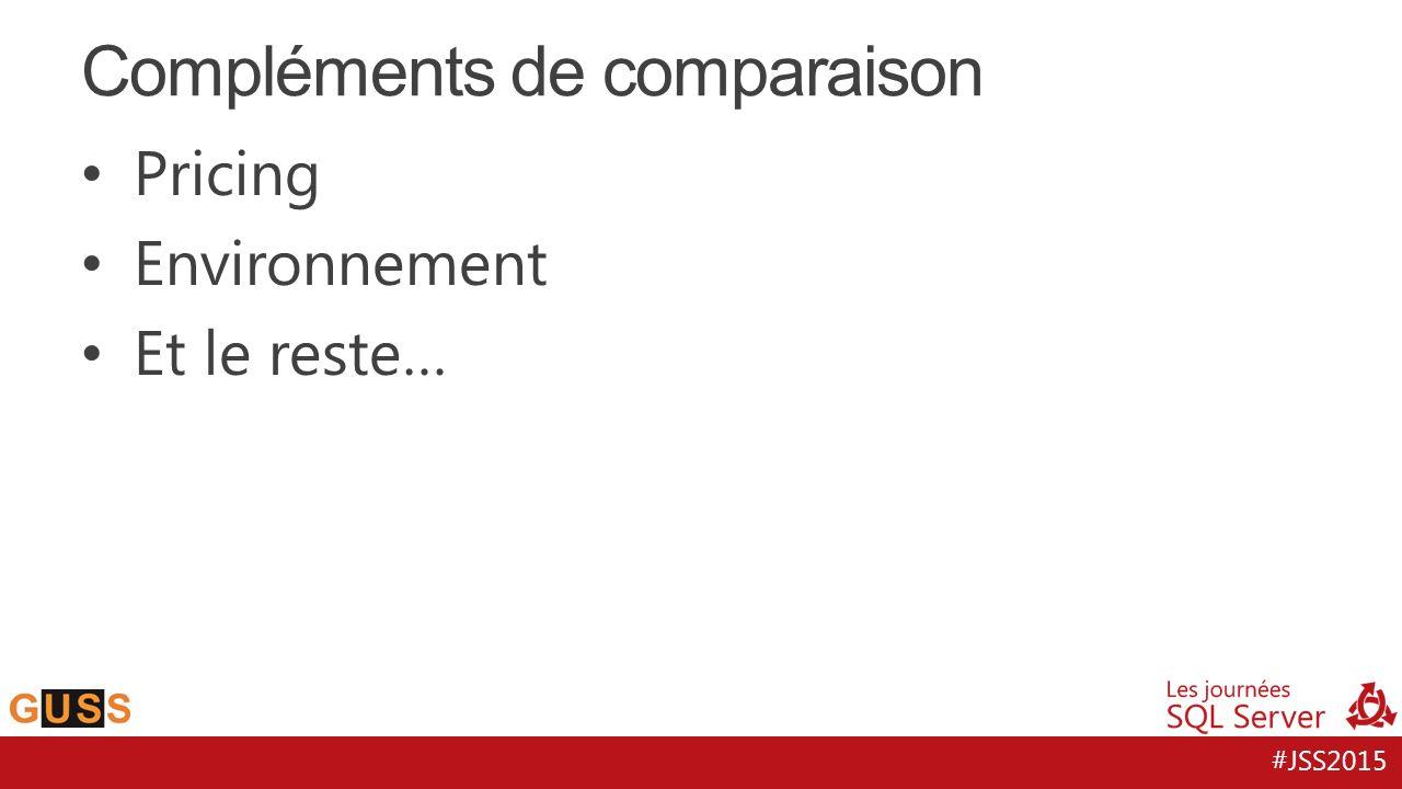 Compléments de comparaison